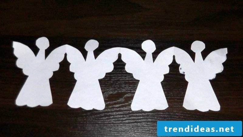 Handicrafts for Christmas paper garland angels