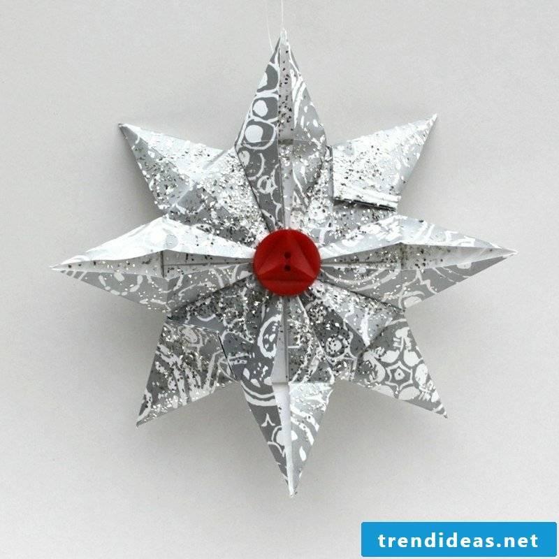 Handicraft instructions for Christmas original poinsettia