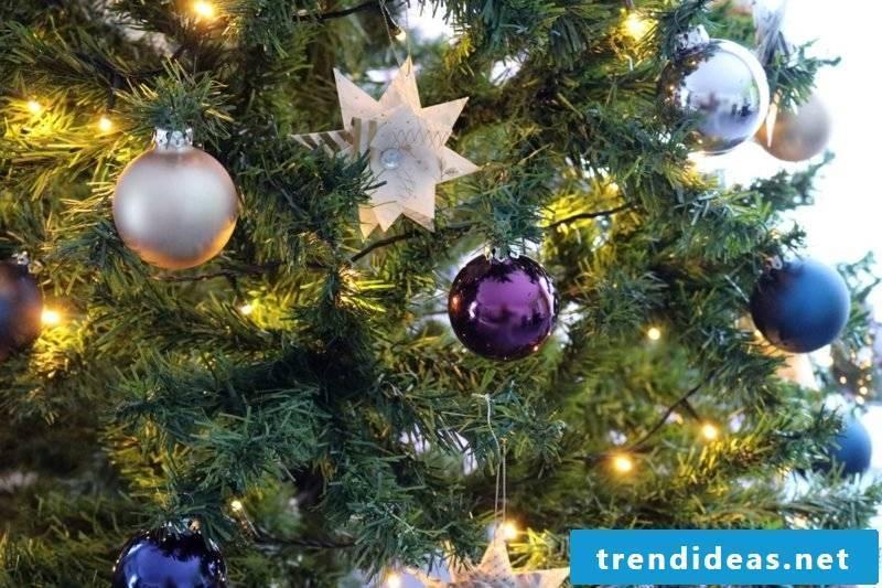 Christmas tree decoration paper star