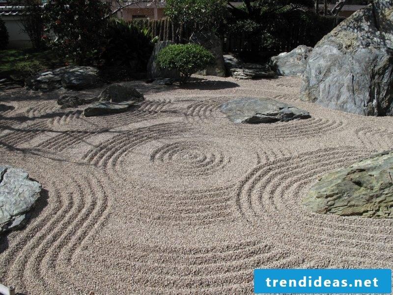 Sand Zen garden