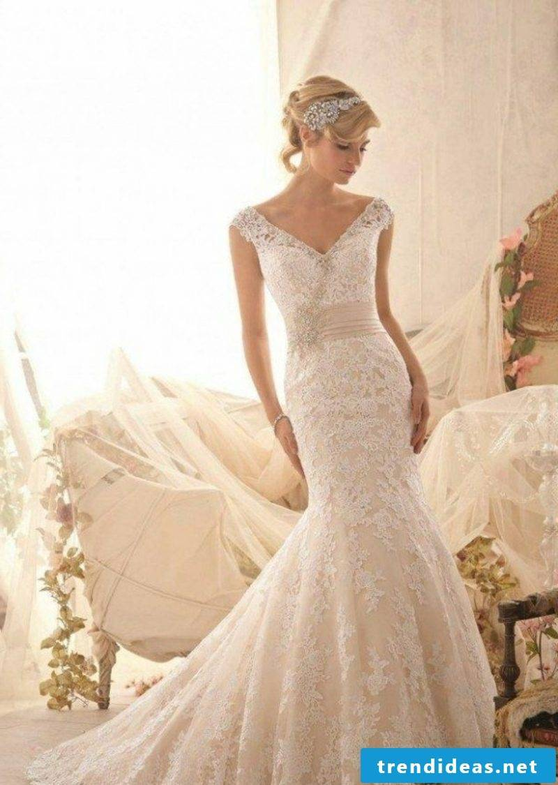 long bridal gown with lace