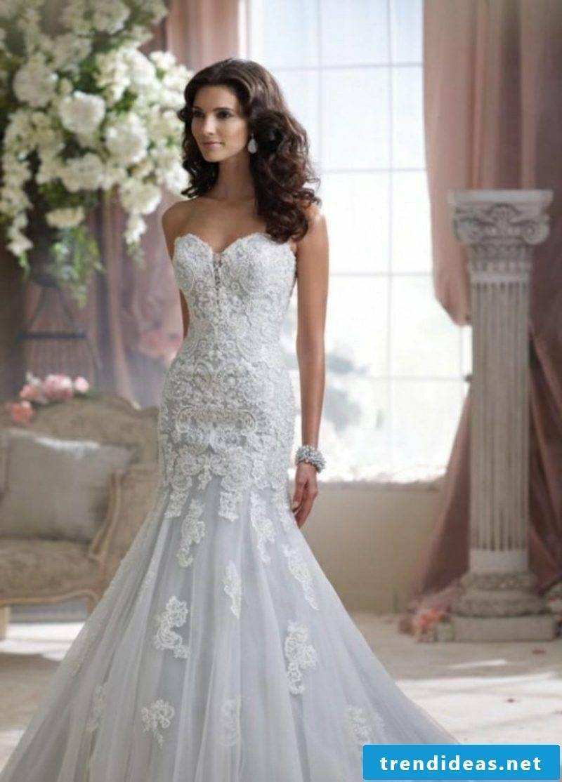 Bridal elegant dress with lace
