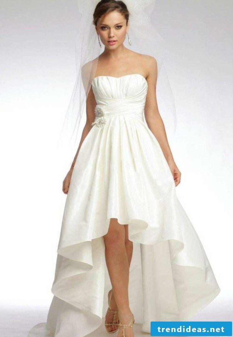 simple asimetrical wedding dress