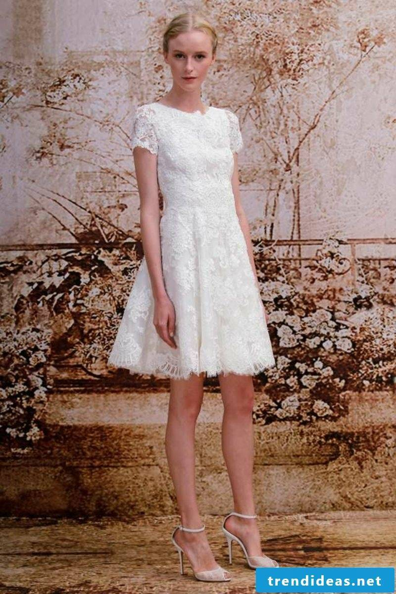 Simple wedding dress with lace