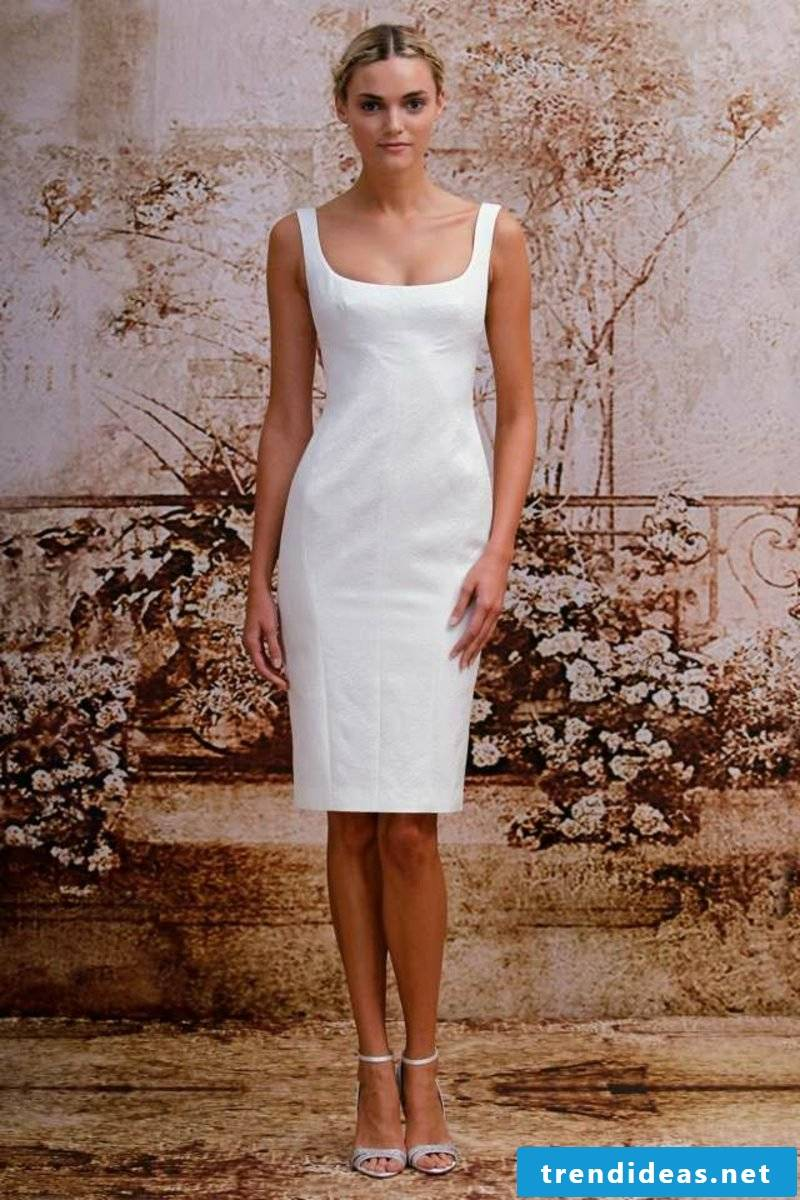 short bridal gown simple model