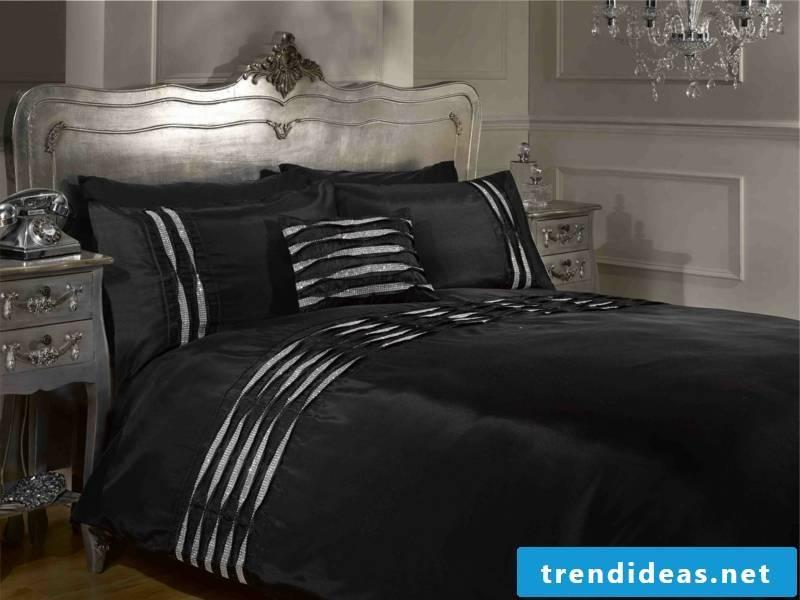 dark black luxurious sheets