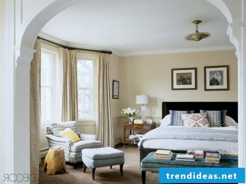 small luxury pillows on bed linen