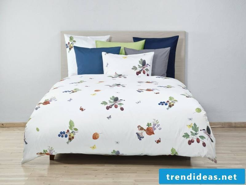 happiness in the luxury bed linen