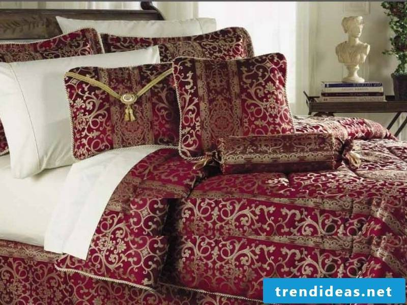 red ideas for the luxury bed linen
