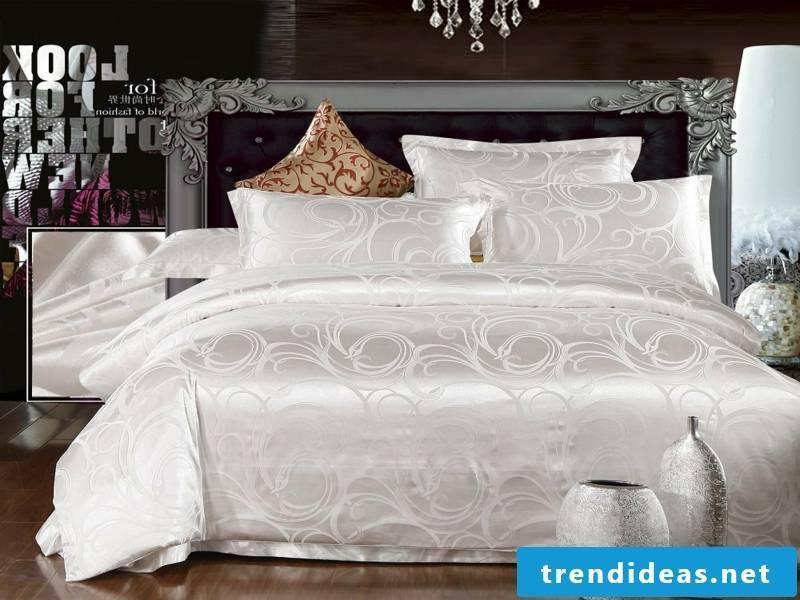 luxury bedding made of satin