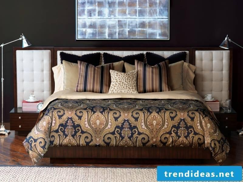 modern original brown bed linen