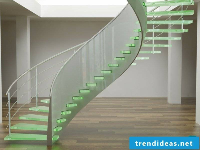 LED lighting and modern stairs