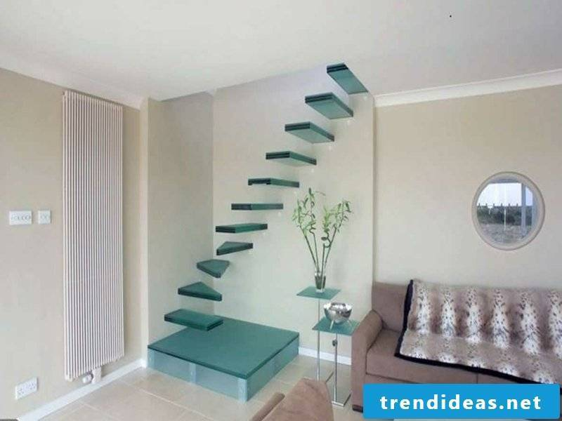 small attractive glass staircase