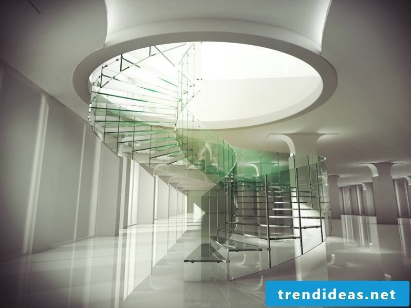 spiral modern glass stairs