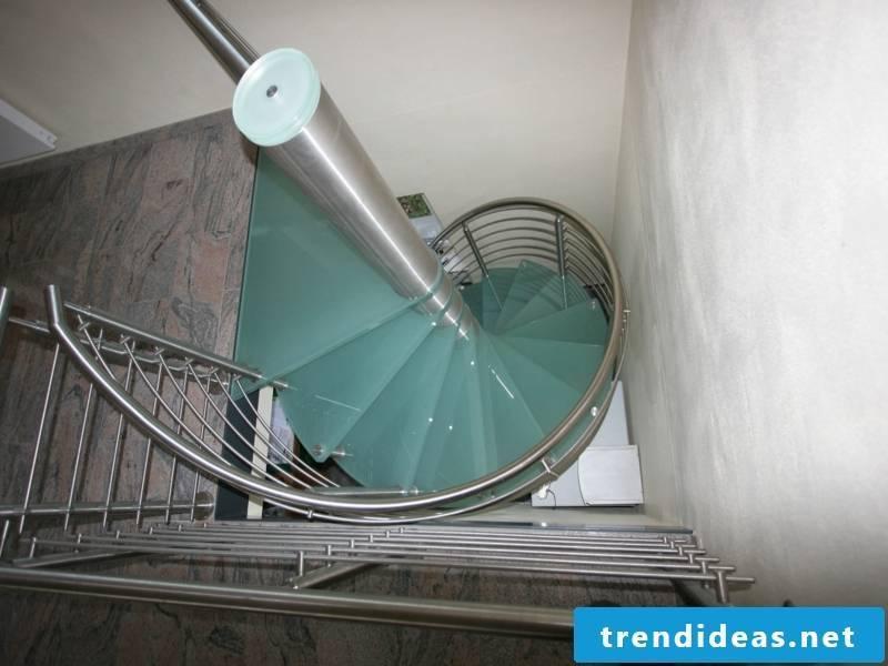 matt modern glass stairs