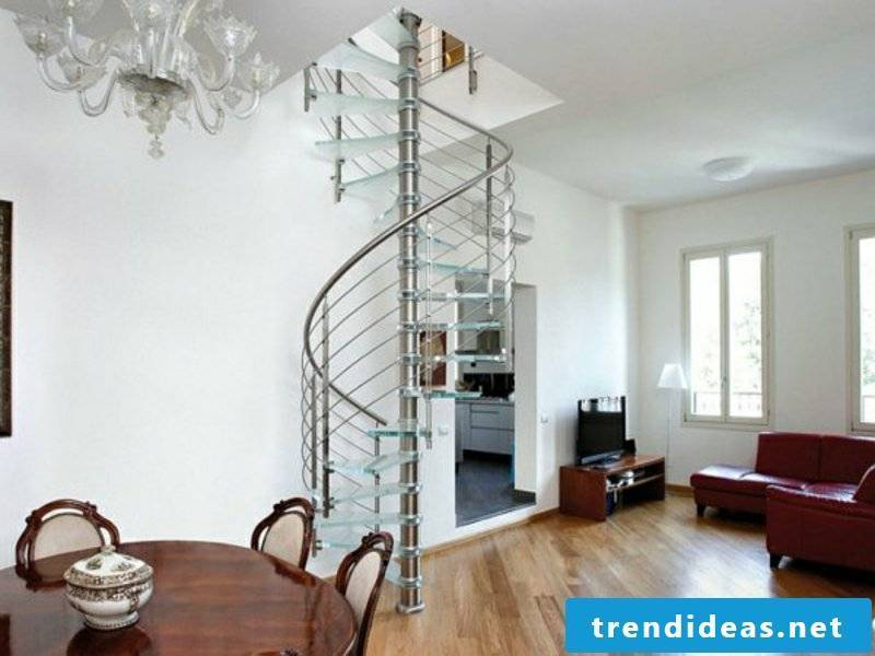 Elegant modern spiral staircase