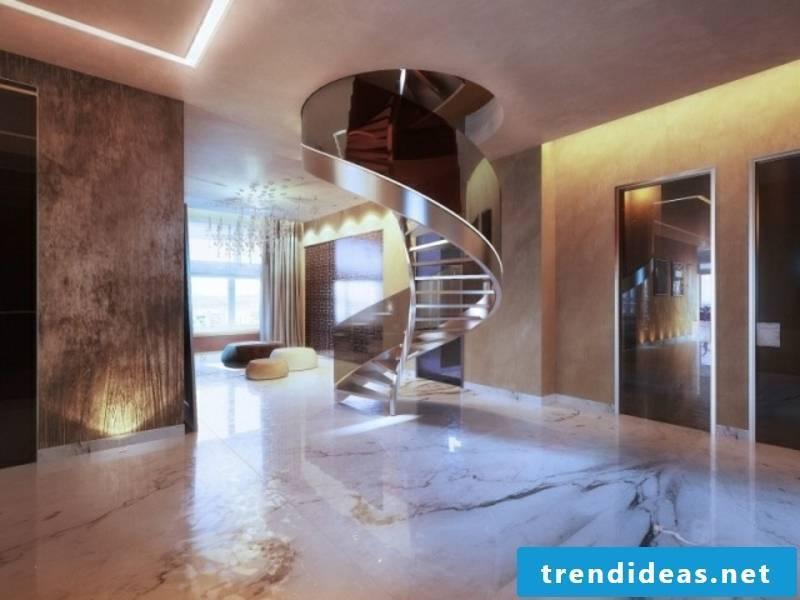 beautiful smoked glass staircase