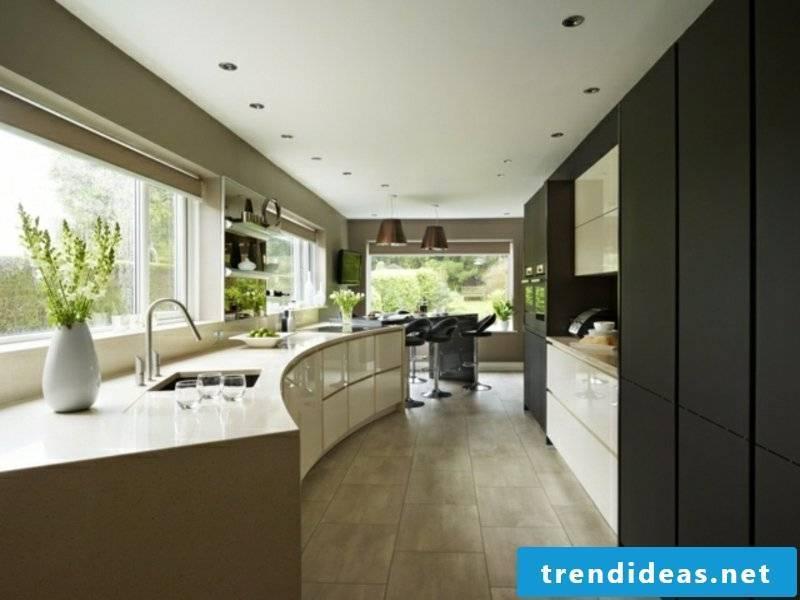 designer matte black kitchen island