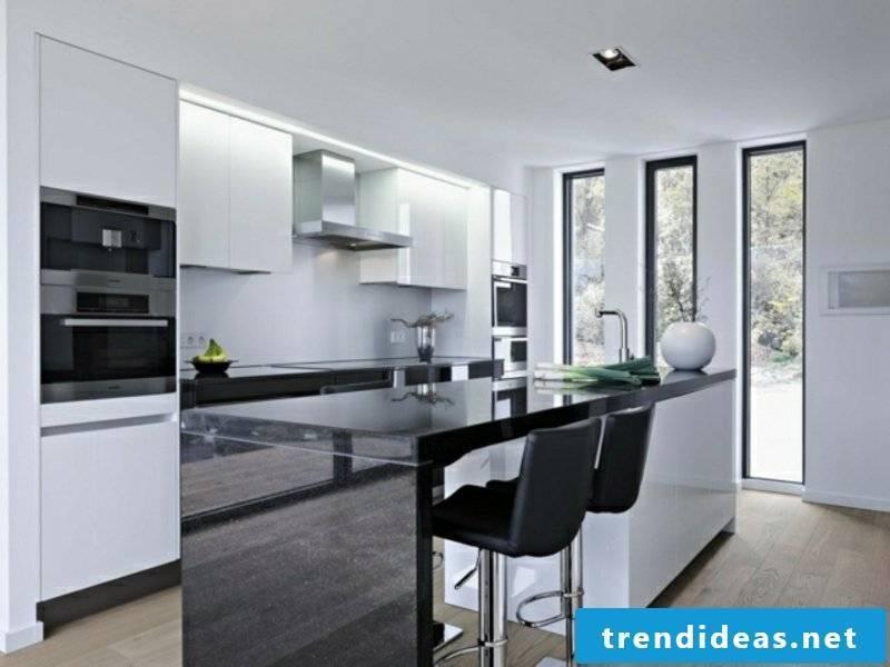 minimalist kitchen island made of marble