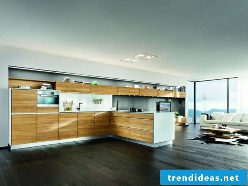 modern kitchen island with wooden elements