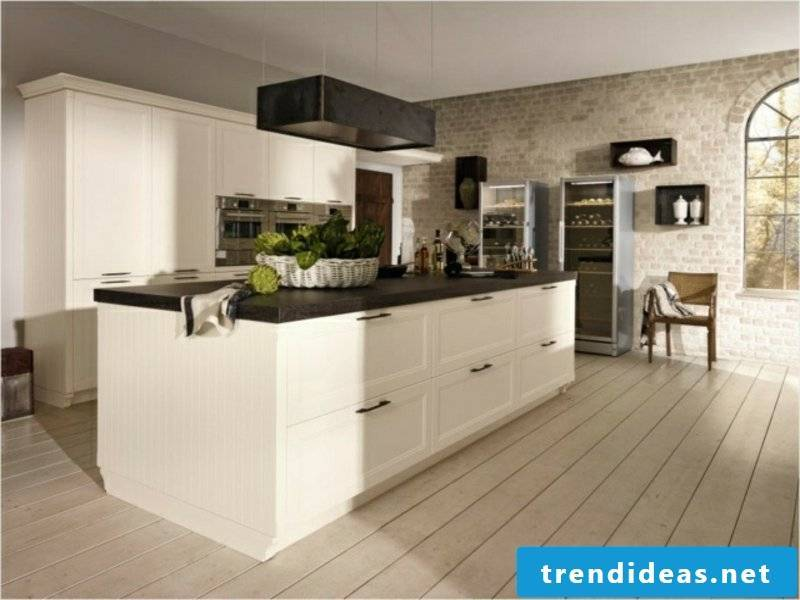 large kitchen island with ceramic work surface