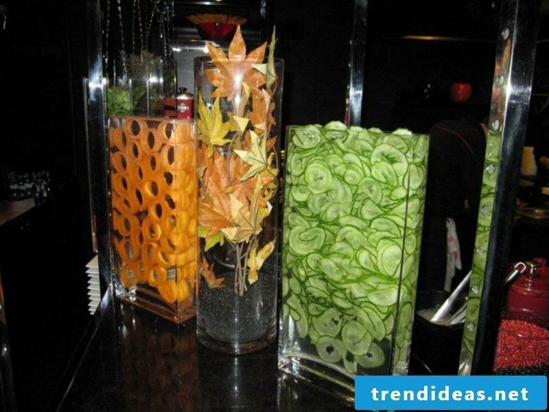 original table decorations in colorful colors