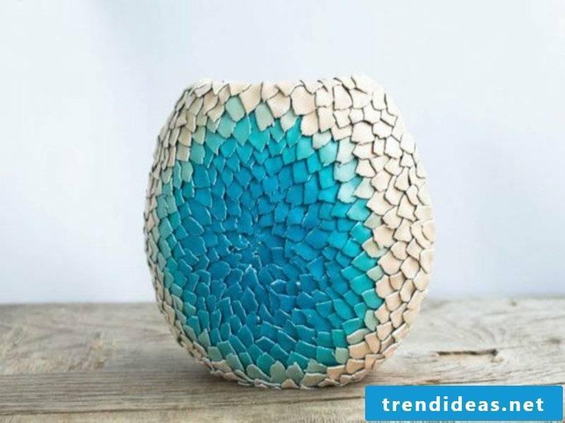 beautiful blue table decoration