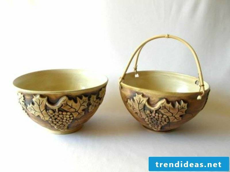 ceramic fruit bowl for table decorations