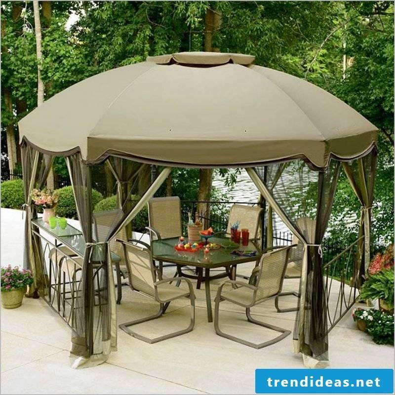 Design garden furniture with sun protection
