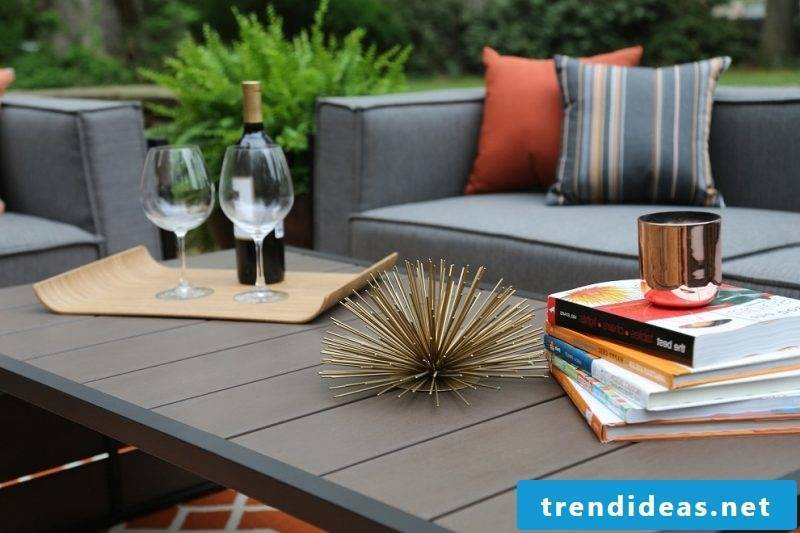 Modern design garden furniture for the balcony