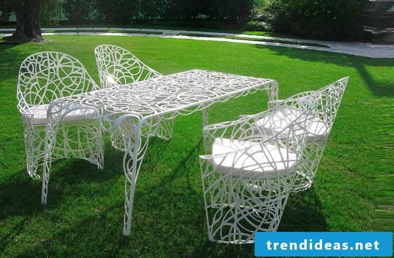 Modern design garden furniture made of metal
