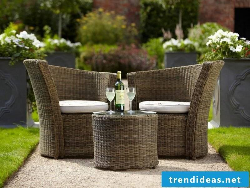 Modern design garden furniture made of rattan