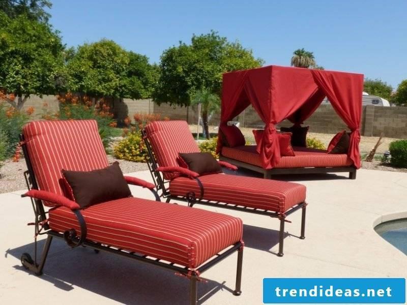 Design garden furniture: sun lounger