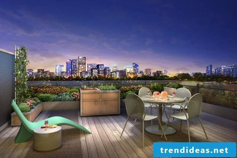 Design garden furniture for a large terrace
