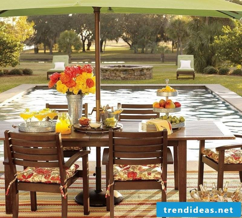Design wooden garden furniture in country style