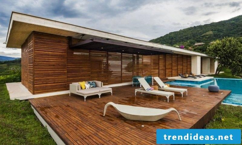 Design garden furniture modern sunlounger