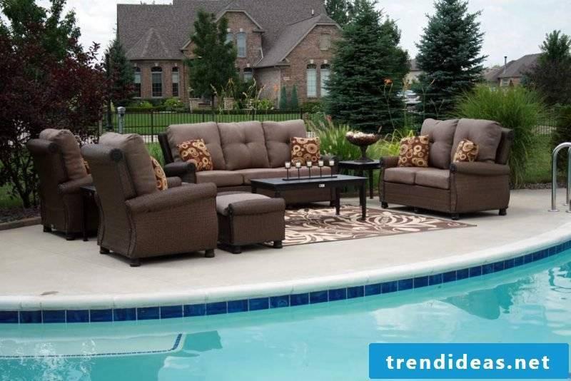Design garden furniture: Get the living room outside