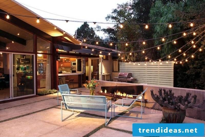 Design garden furniture for the terrace