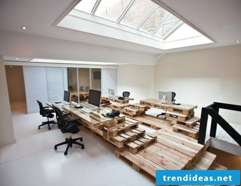 Furniture made of Euro pallets - interior design ideas