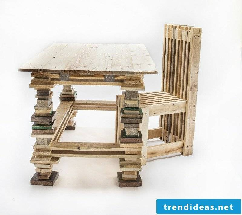 Furniture made of europallets