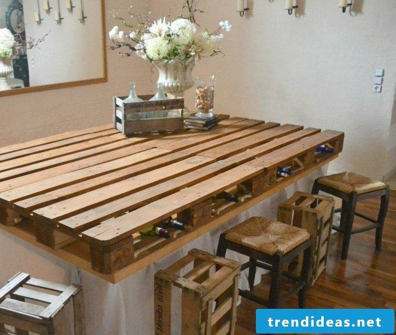 Wooden coffee table with rolls