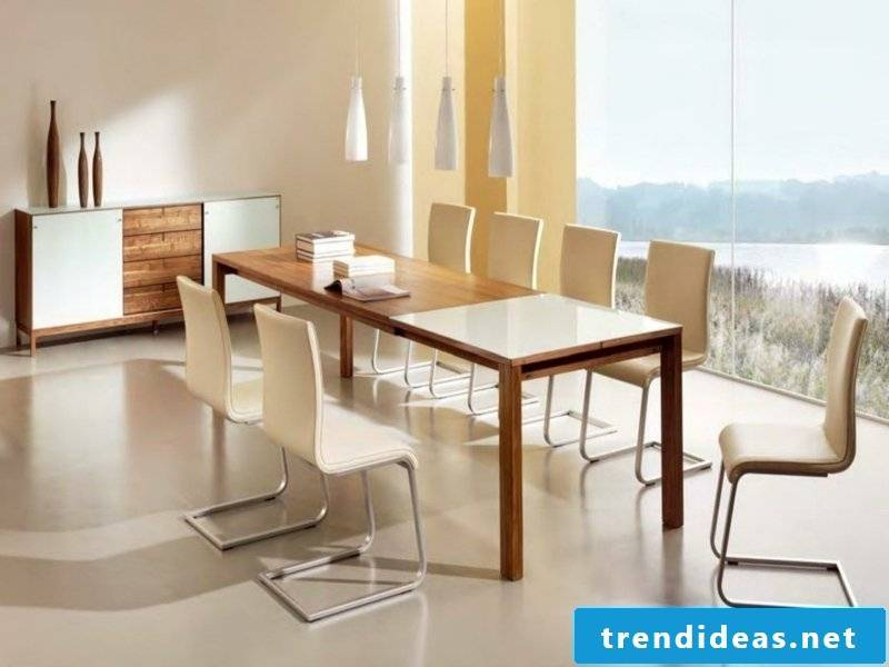 designer dining lamps in pastel colors