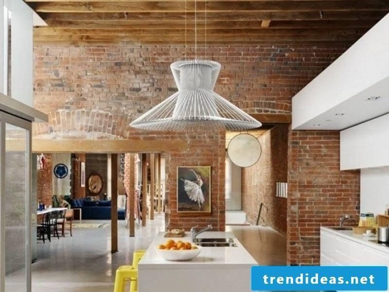 Modern LED pendant light in the dining room