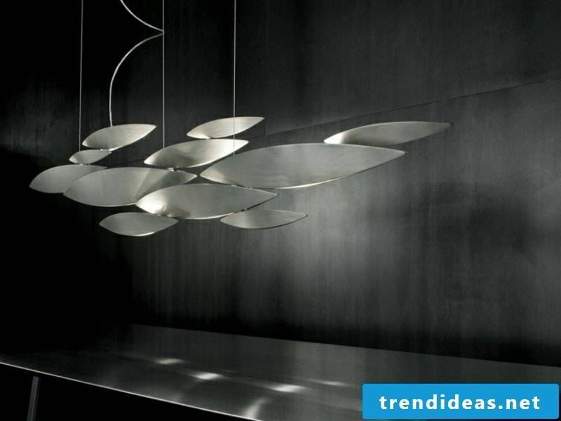 extremely modernist dining room lamps