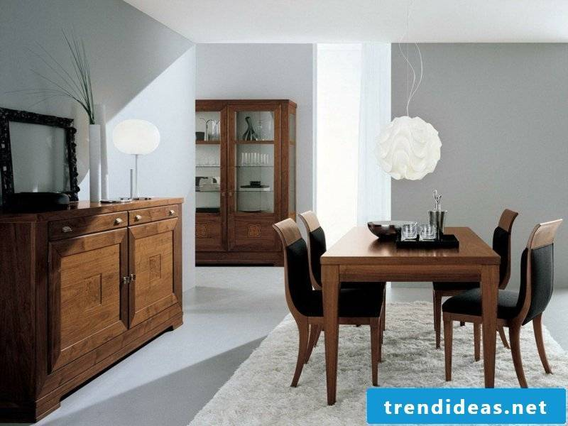 white dining room lamps as an accent