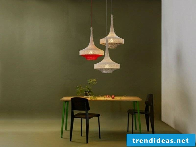 small dining room lamps in earth tones