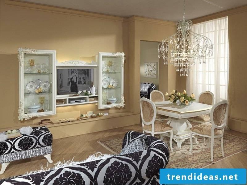 striking elegance in the dining room lighting