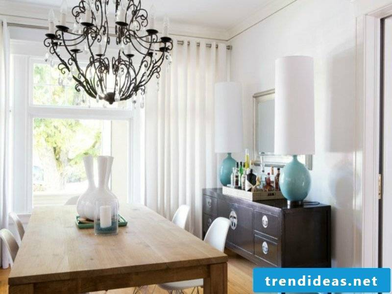 modern dining room lamp with wooden elements