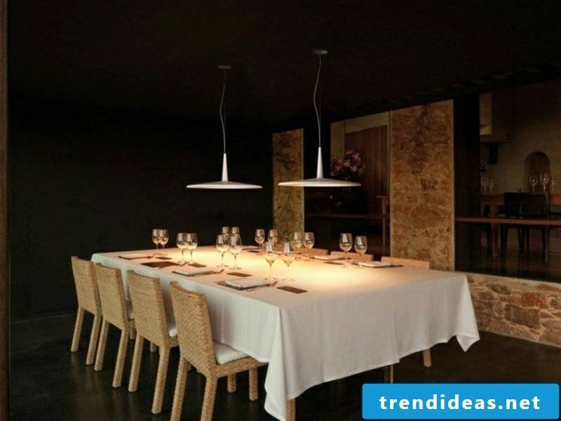 white purist dining room lamps
