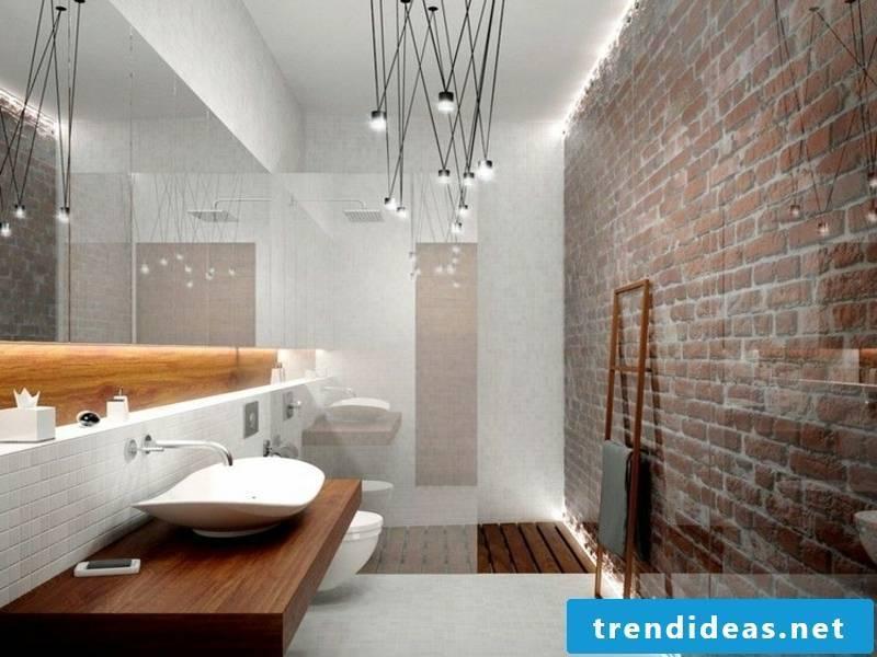 Mini-bathroom with indirect lighting
